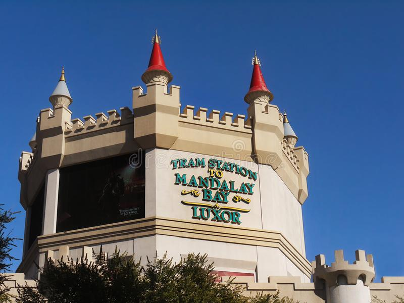 Las Vegas Strip, Tram Station, Buildings Attractions, Nevada royalty free stock photos