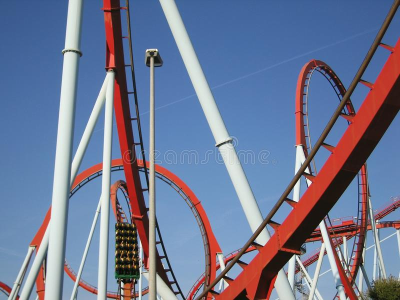 Attractions in park Port Aventura Spain. The port of Aventura PortAventura — an amusement park and attractions, the European resort in Spain. It is stock photos