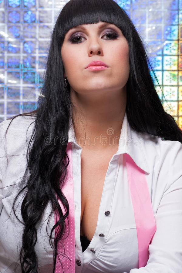 Download Attractive stock image. Image of dark, lady, caucasian - 28567145