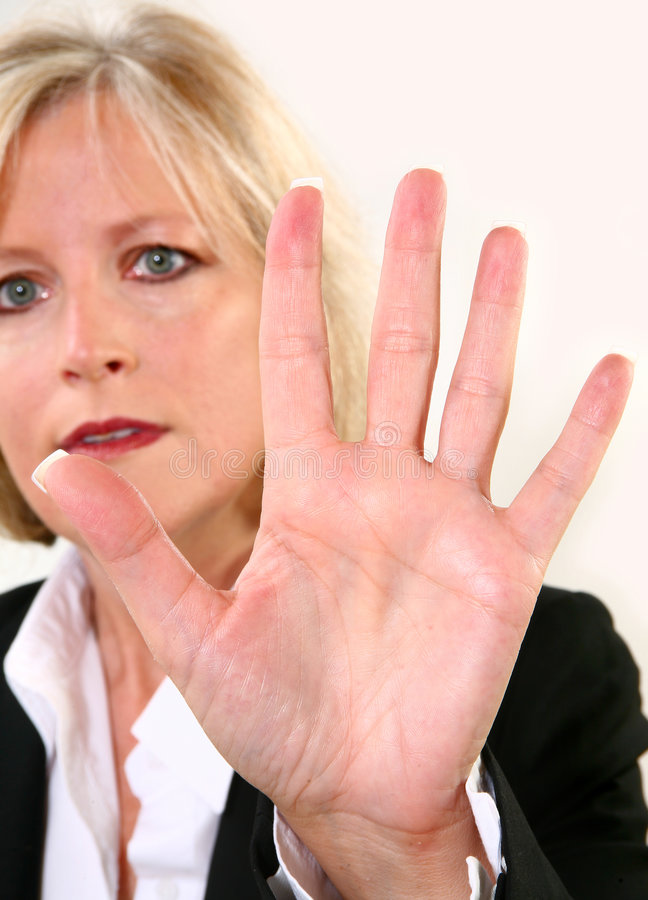 Attractive 40 Something Woman royalty free stock image