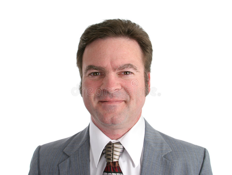 Attractive 40 year old Businessman Headshot royalty free stock photos