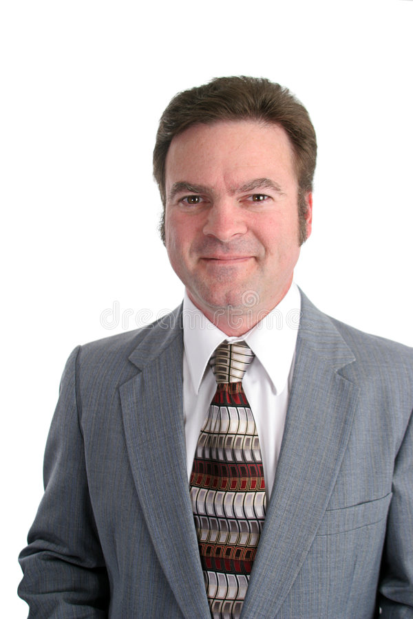 Attractive 40 year old Businessman Vertical stock image