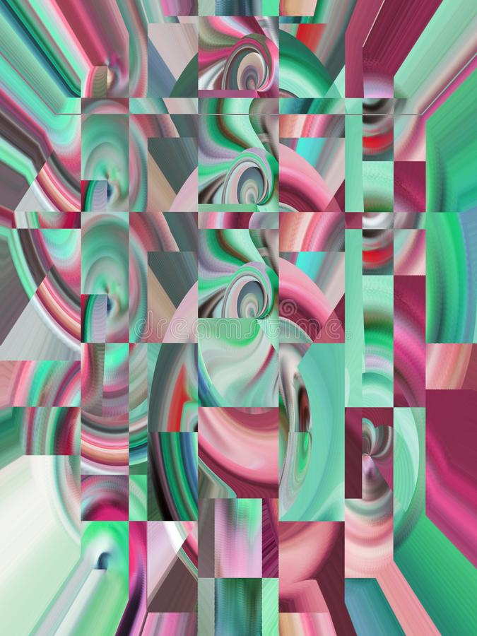 Attractive abstraction and design. Graphic arts and art. Abstract Abstraction Art Design Styling Imagination Graphic Dynamic Harmony Inspiration Fantasy Modern stock illustration