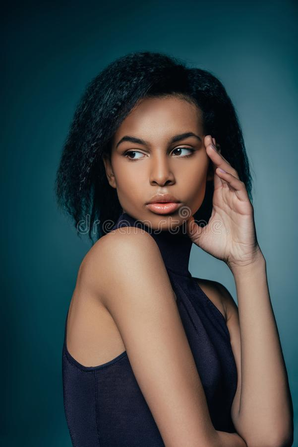 Attractive african american girl stock images