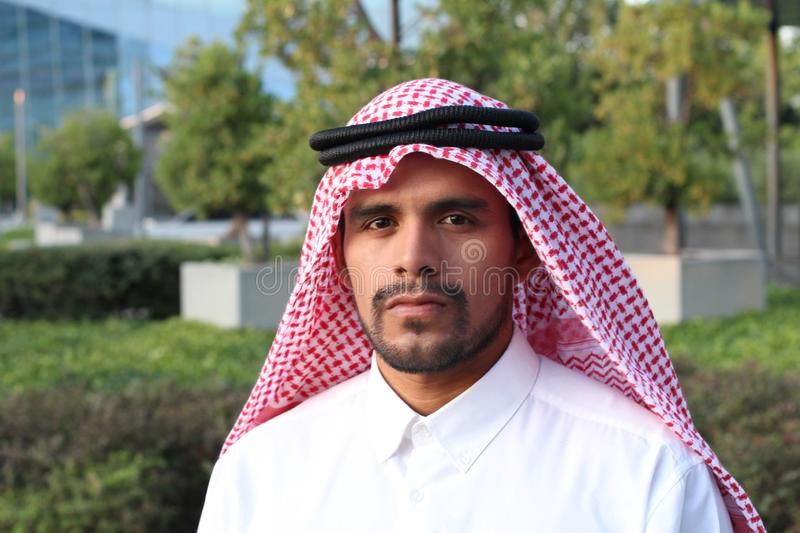 Attractive Arabic man with copy space royalty free stock images