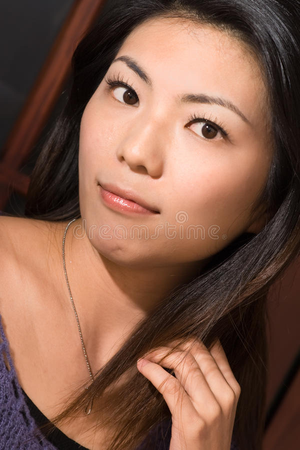 Attractive Asian beauty royalty free stock image