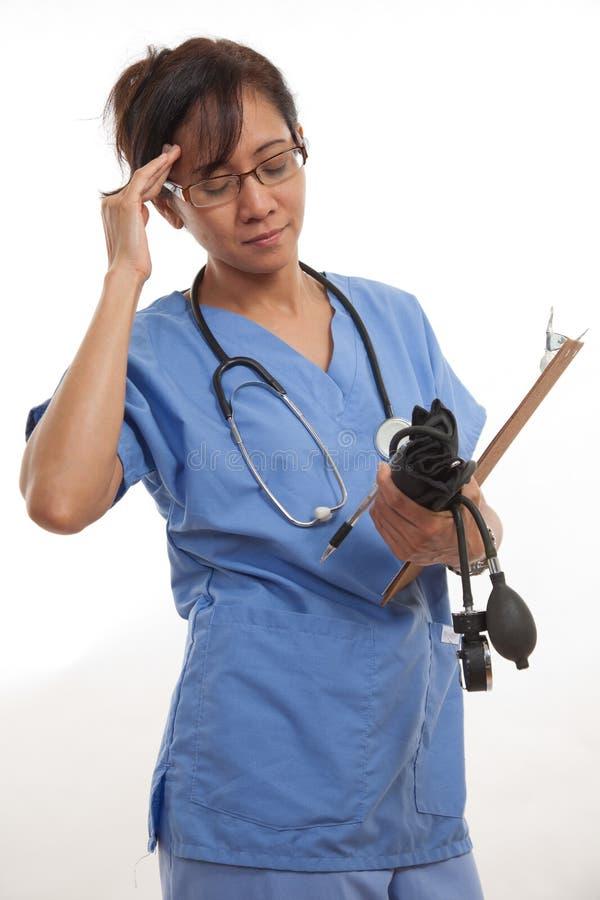 Attractive Asian Filipino Nurse Doctor Stock Photography