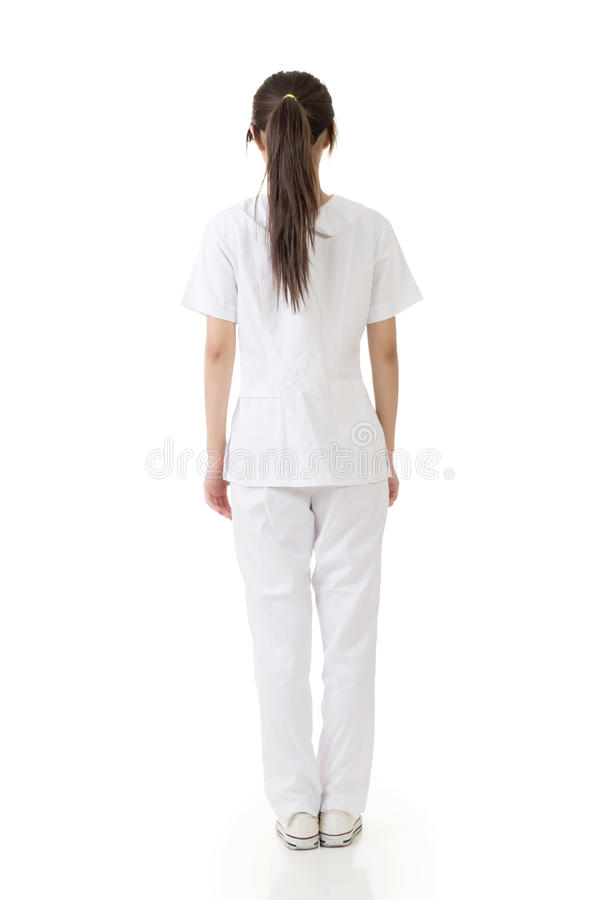 Free Attractive Asian Nurse From A Back Royalty Free Stock Images - 33036149