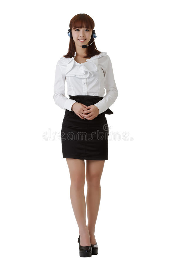 Download Attractive Asian secretary stock photo. Image of center - 16275470