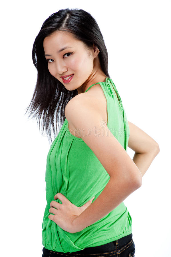An attractive Asian woman royalty free stock photography