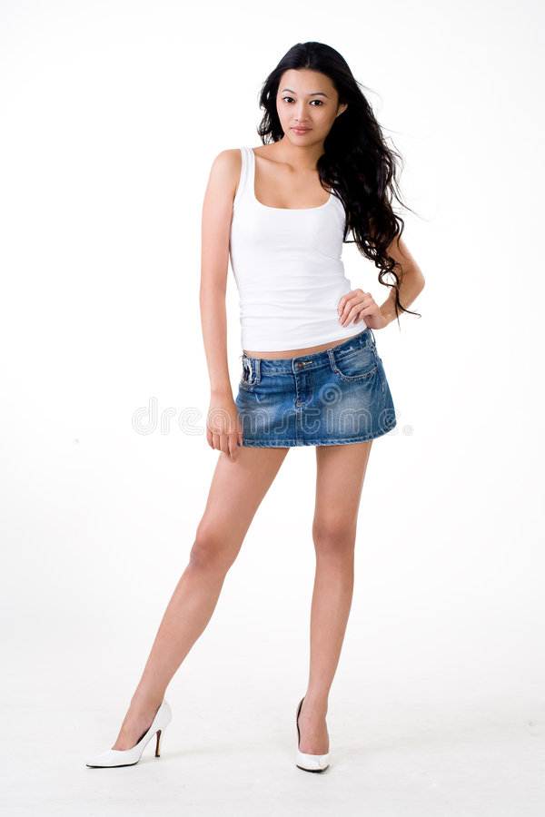 Attractive Asian Young Woman Stock Image