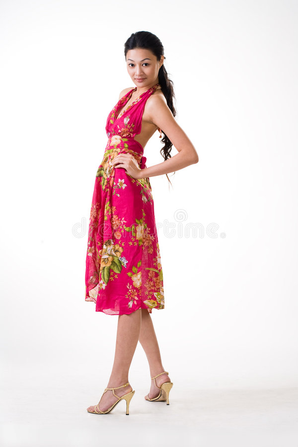 Attractive Asian Young Woman Stock Photo