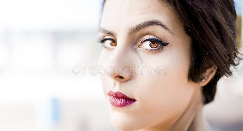 Attractive, Beautiful, Beauty, Close-up stock photography
