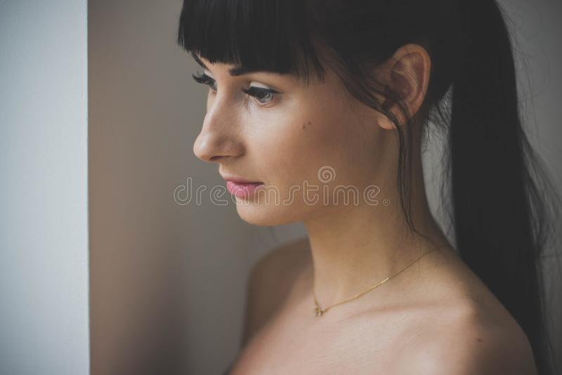 Attractive, Beautiful, Close-up stock photo