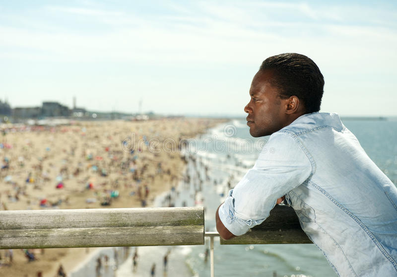 Download Attractive Black Man Relaxing At The Beach Stock Image - Image: 32885355