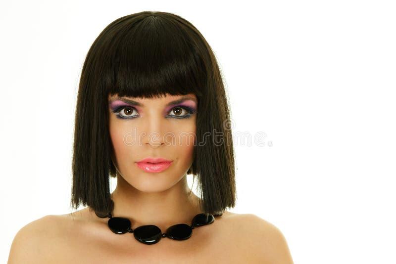 attractive black necklace woman στοκ φωτογραφία με δικαίωμα ελεύθερης χρήσης