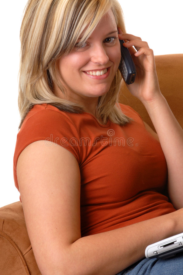 Attractive Blond Woman royalty free stock images