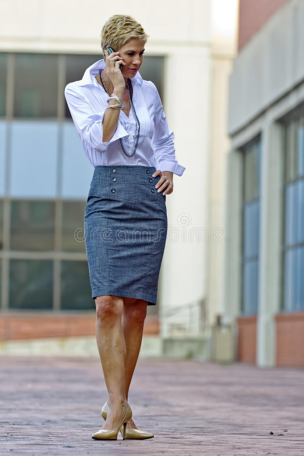Attractive Blonde Business Woman stock photo