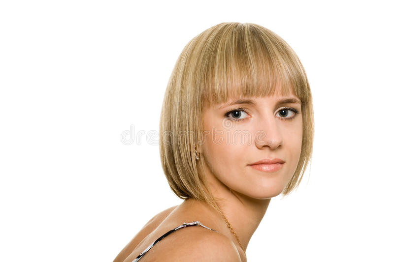 Attractive blonde girl royalty free stock photos