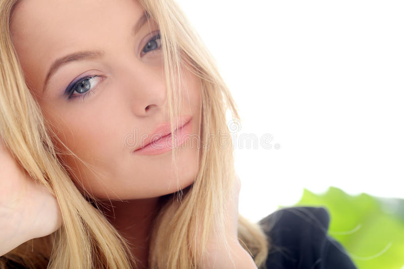 Download Attractive blonde at home stock image. Image of beautiful - 41524499