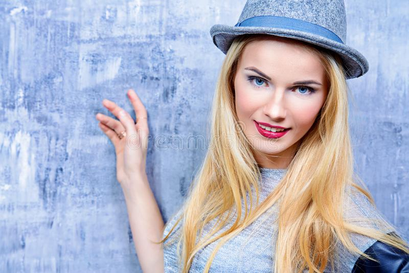 Attractive blonde lady stock photography