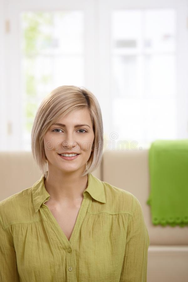 Download Attractive blonde woman stock image. Image of home, female - 22856881