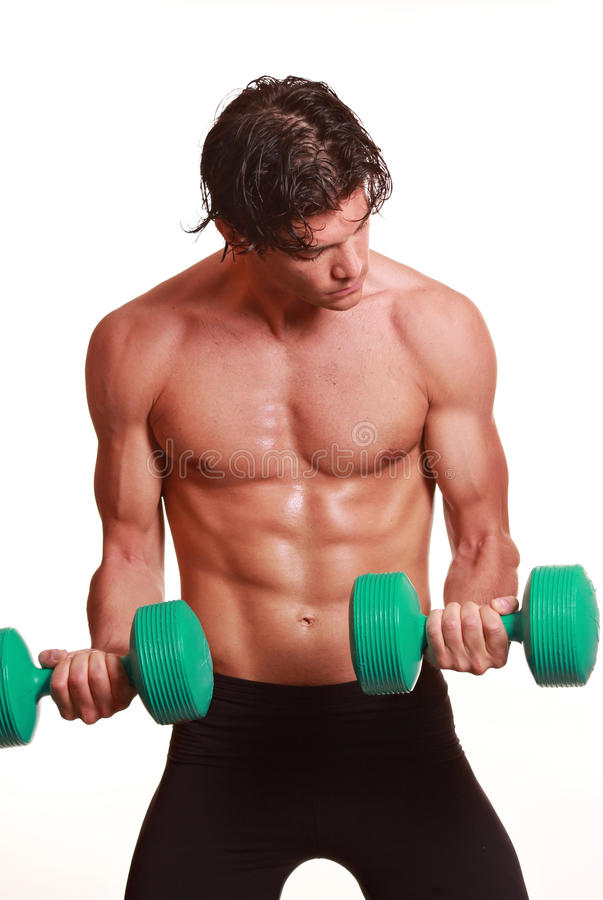 Attractive Bodybuilder Royalty Free Stock Image