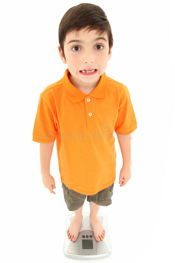 Download Attractive Boy Standing On Scale Stock Photos - Image: 20029473