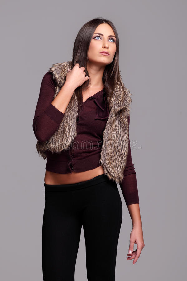 Attractive Brunette Posing Stock Photography
