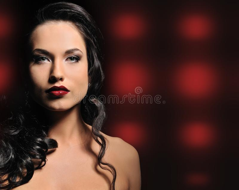 Attractive brunette woman stock images