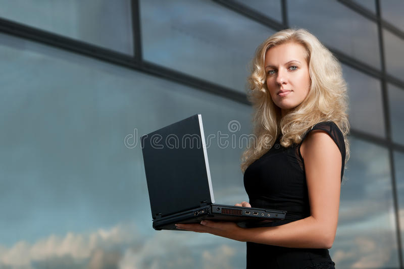 Attractive business lady royalty free stock photo