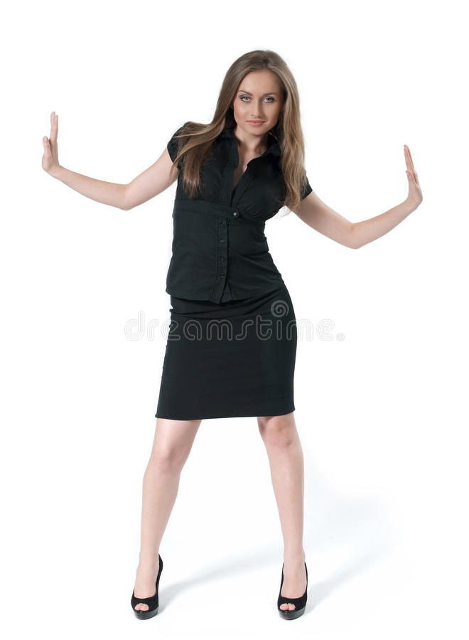 Attractive Business Lady Under Pressure - Business Royalty Free Stock Images