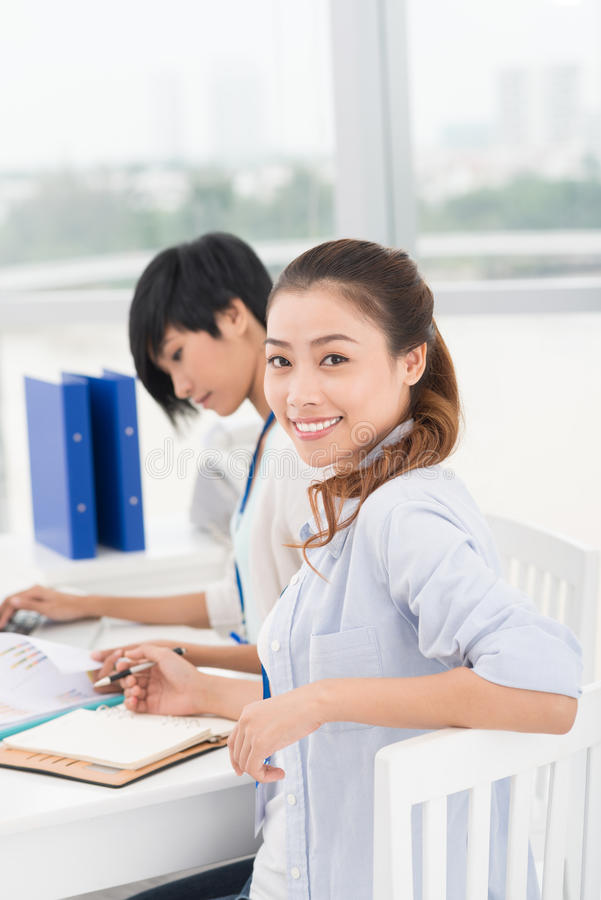 Attractive business lady stock photo