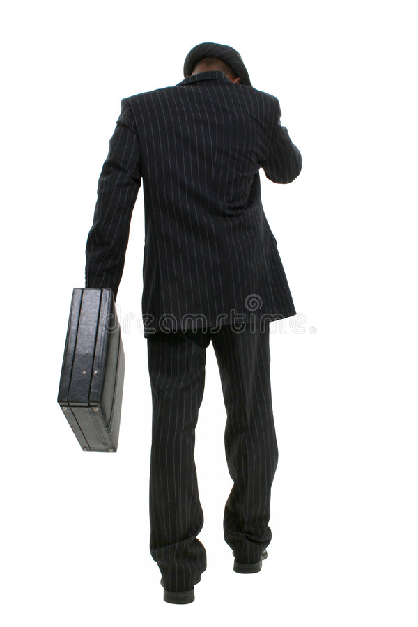 Free Attractive Business Man In Pin Striped Suit & Hat Walking Away Stock Photo - 182490