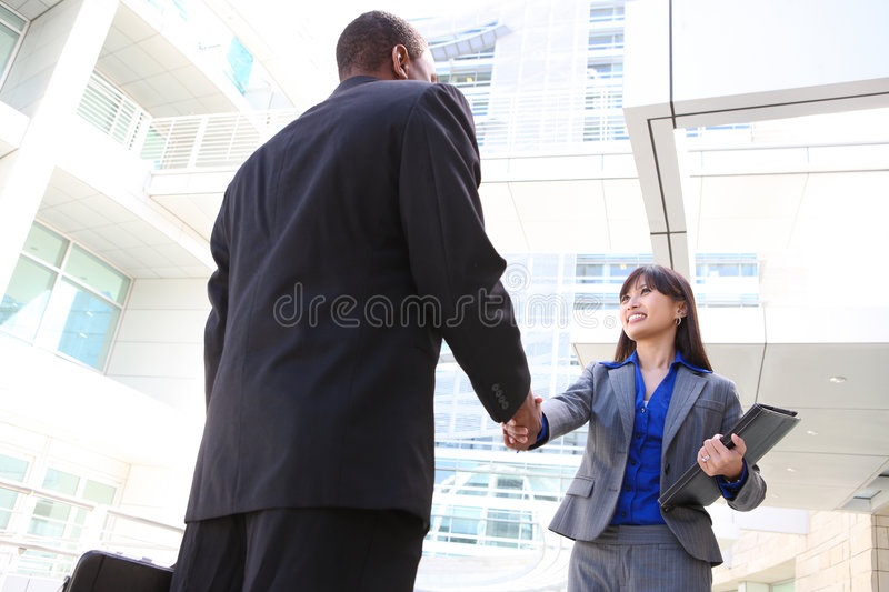 Attractive Business Team Handshake royalty free stock images