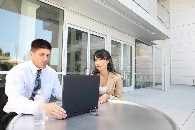 Attractive Business Team at Office stock image