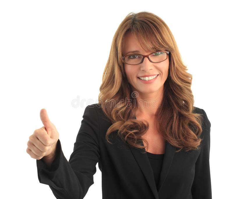 Attractive business woman royalty free stock photo