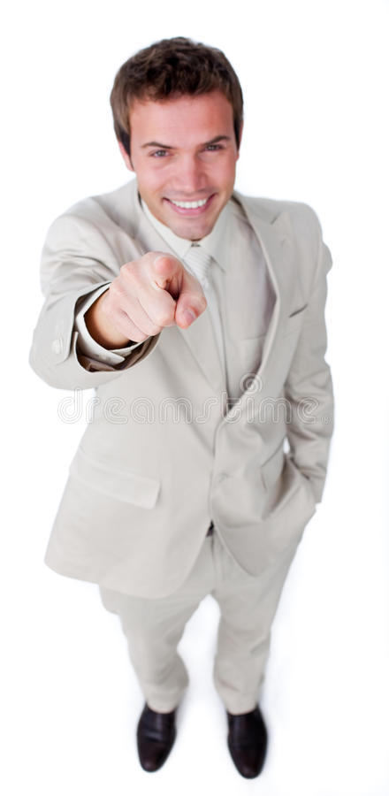 Download Attractive Businessman Pointing At The Camera Stock Photo - Image: 12446048