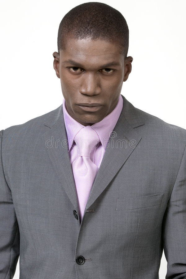 Attractive businessman in suit royalty free stock image
