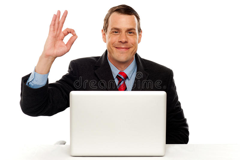 Download Attractive Businessperson Showing Okay Gesture Stock Images - Image: 25883684