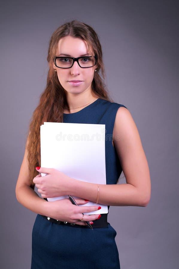 Attractive businesswoman stock image