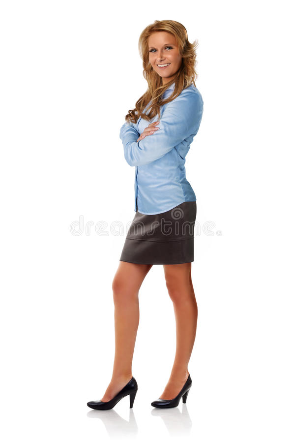 Attractive Businesswoman With Arms Crossed Royalty Free Stock Photos