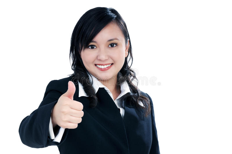 Download Attractive Businesswoman Giving Thumb Up Sign Stock Photo - Image: 17800790