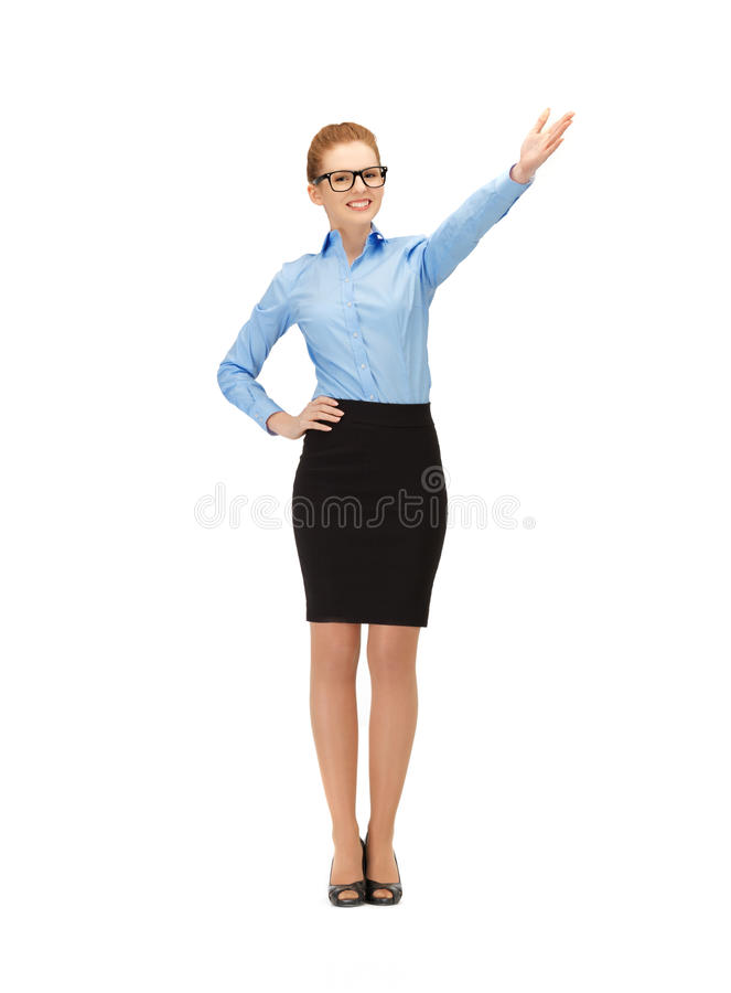 Download Attractive Businesswoman Pointing Her Hand Stock Photo - Image of caucasian, gorgeous: 39514476