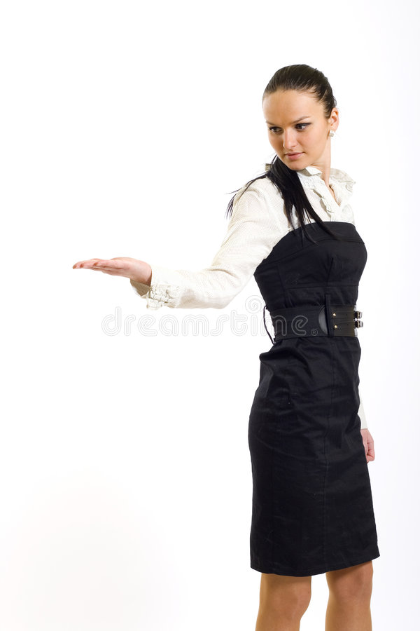 Download Attractive Businesswoman Presenting Something Stock Image - Image: 9141509