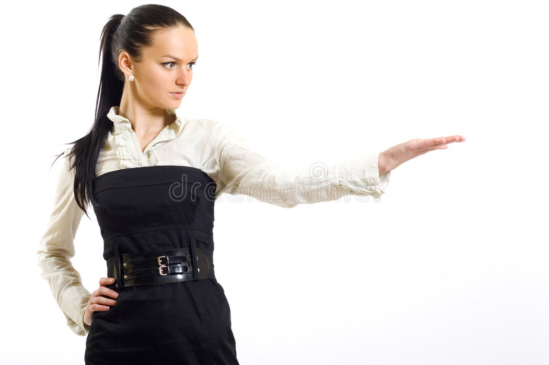 Download Attractive Businesswoman Presenting Something Stock Photo - Image: 9141520