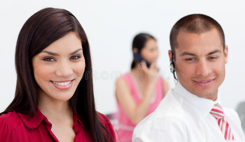 Download Attractive Businesswoman Smiling At The Camera Royalty Free Stock Photos - Image: 12041508