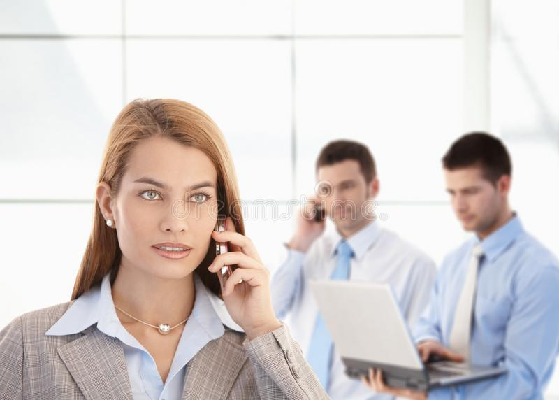 Download Attractive Businesswoman Talking On Mobile Stock Photo - Image: 21772102