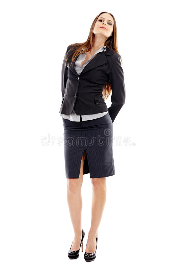 Download Attractive Businesswoman On White Background Stock Photo - Image: 37272524