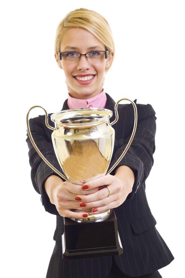 Download Attractive Businesswoman Winning Stock Photo - Image: 12112948